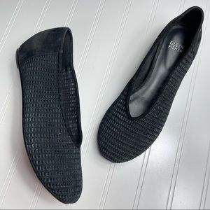 """Eileen Fisher • Wedged """"Patch"""" Flats"""